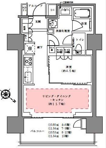プラウド渋谷本町 906の写真1
