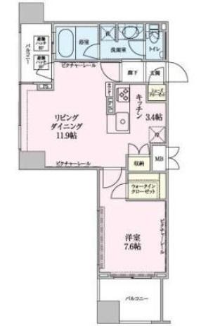 ロイジェントパークス赤坂 1004の写真1