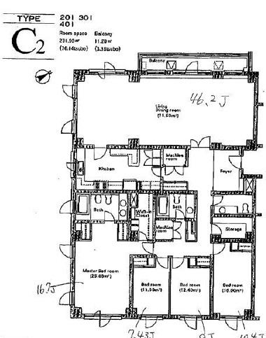 元麻布テラスアパートメント 301の写真1