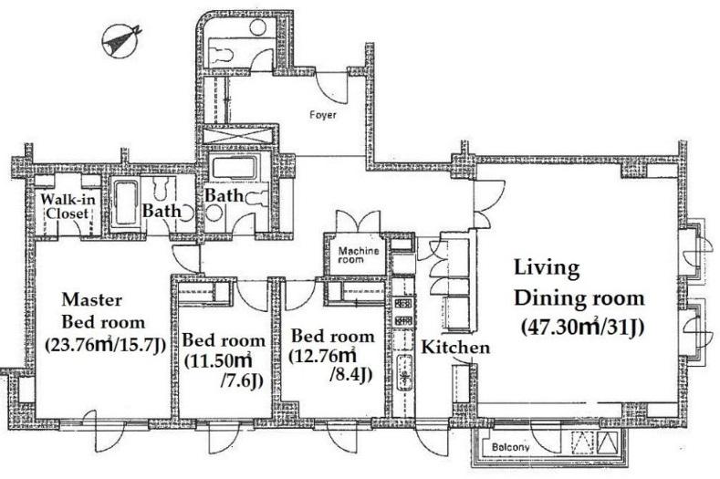 元麻布テラスアパートメント 202の写真1