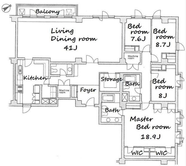 元麻布テラスアパートメント 204の写真1