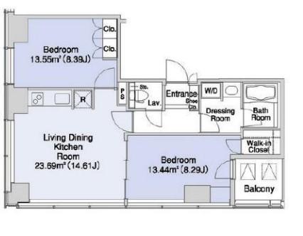 プラティーヌ新宿新都心 1704の写真1