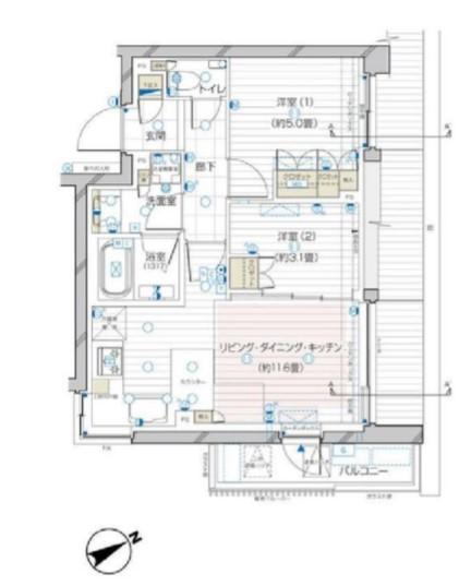 ザ・レジデンス駒込染井 404の写真1