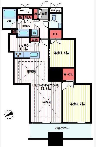 富久クロスコンフォートタワー 3405の写真1