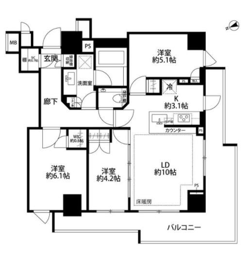 ザ・パークハウス目黒本町 304の写真1