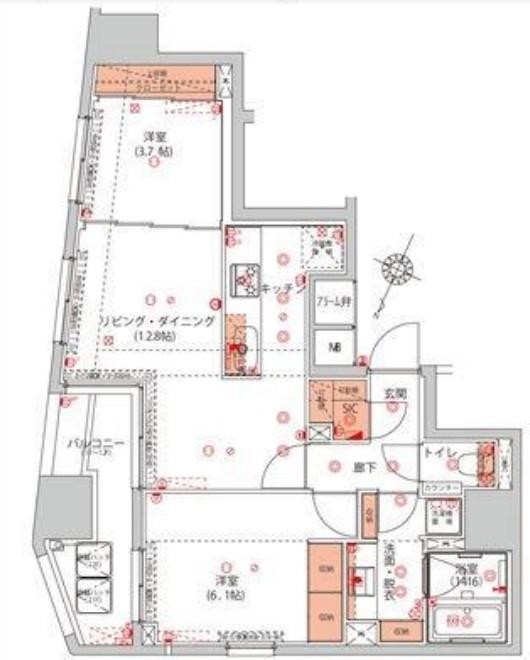 ハーモニーレジデンス千代田岩本町 11Fの写真1