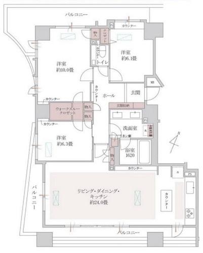 幡ヶ谷ハイムグランシス  1110号室の写真2