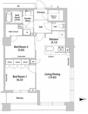 品川ハート ビュータワー 2212の写真1