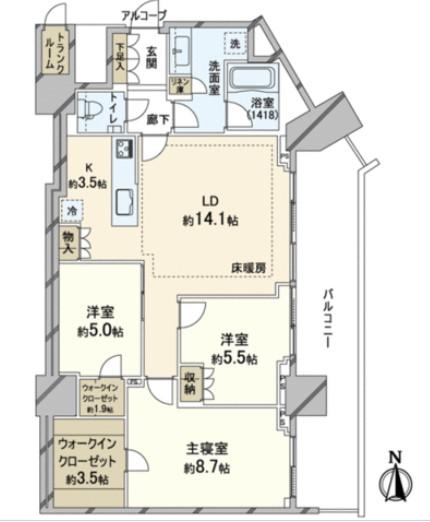 THE COURT 神宮外苑 5Fの写真1