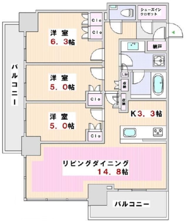 Brillia THE TOWER 東京八重洲アベニュー 3階の写真1